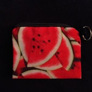 New - Change purse or coin bag - Watermelon